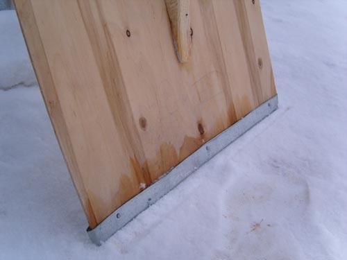 Снеговая лопата своими руками фото