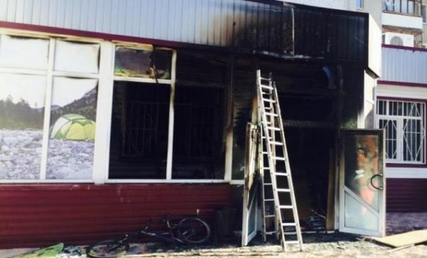 фото с места пожара из соцсетей