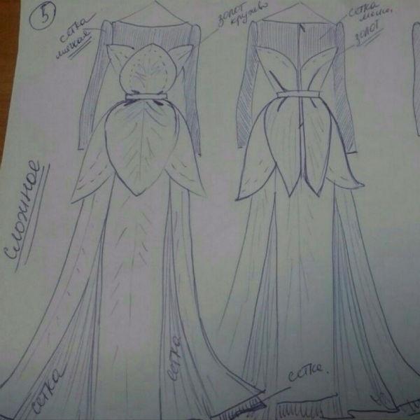 Свадебный наряд Элины Камирен. Платье