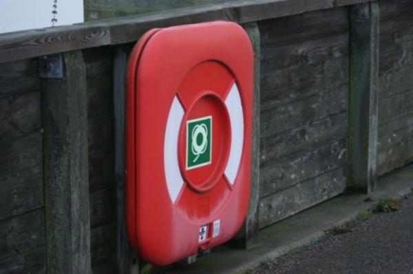 Копенгаген. Спастельные круги на набережной. Говорят, везде есть.