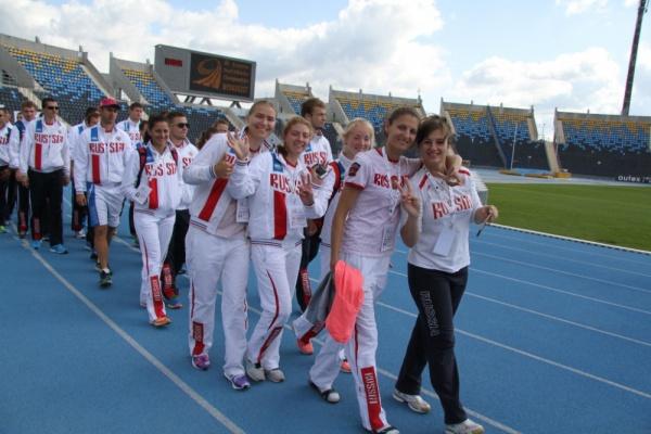 Сборная России и на официальном открытии чемпионата