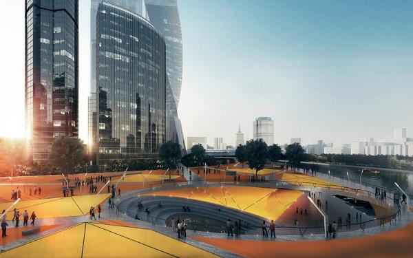 проект обустройства одной из набережных Москва-реки