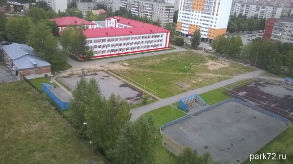 Вид территории школы сверху