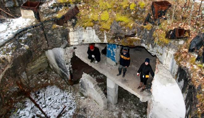 Подземные тоннели, ведущие через 200 метров к разным стартовым площадкам ракет