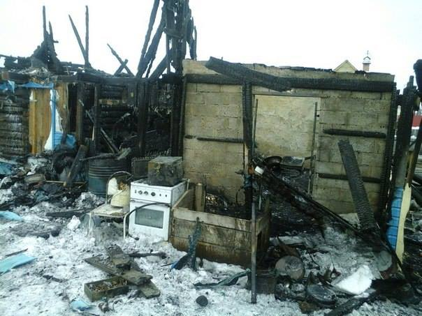 Дом семьи Вараксиных сгорел практически до тла