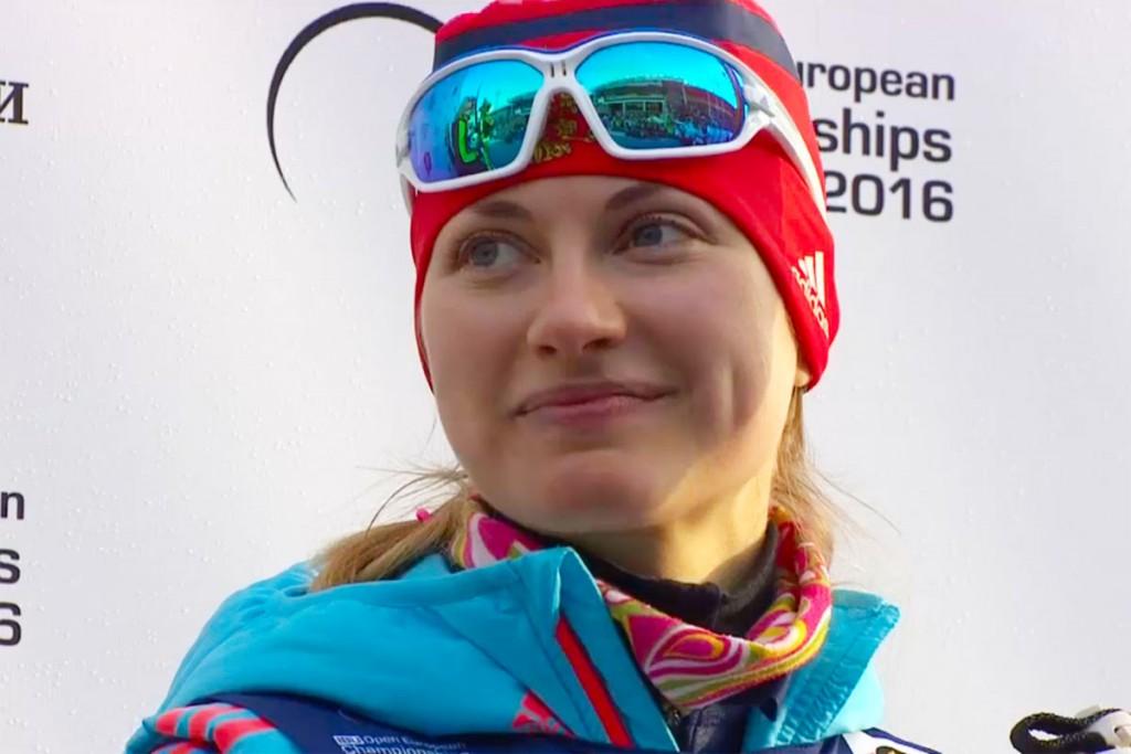 Анна Щербинина. 4-е место в спринте на Чемпионате Европы по биатлону в Тюмени