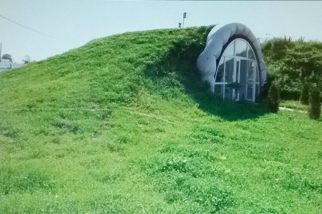 Энергоэффективный экодом внешне похож на жилища хоббитов