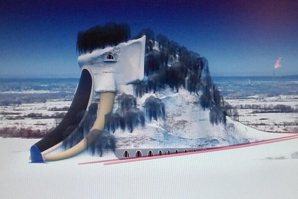 Тюменсий проект «Мамонтогоры». Объект может быть построен из отходов нефтяной промышленности