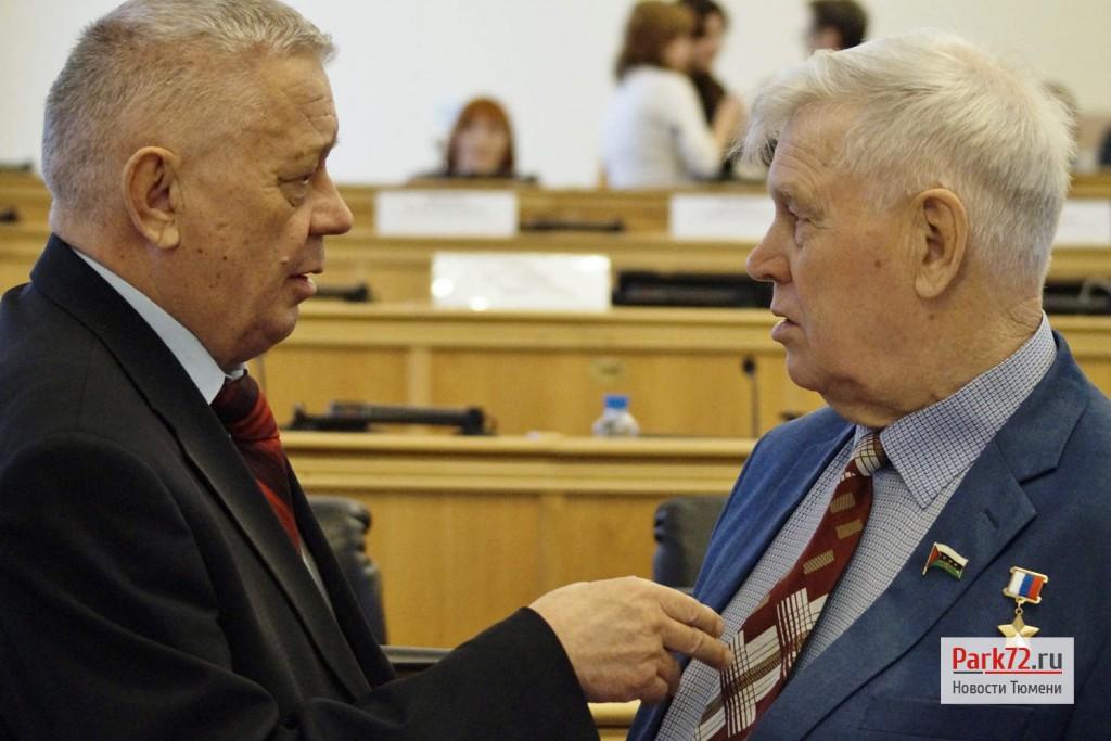 Депутат Владимир Столяров и Герой России Владимир Шарпатов