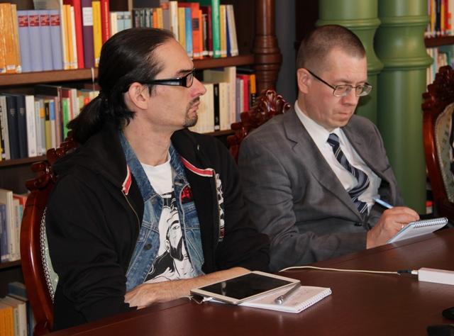 Участники пресс-конференции. Фото Елены Кухальской.
