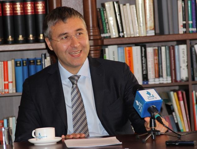 Ректор ТюмГУ Валерий Фальков. Фото Елены Кухальской.