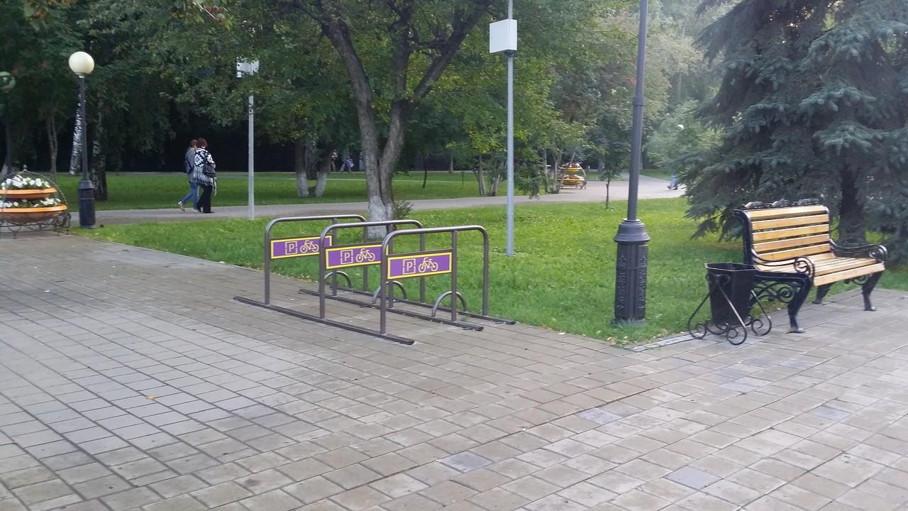 велопарковка на текутьевском