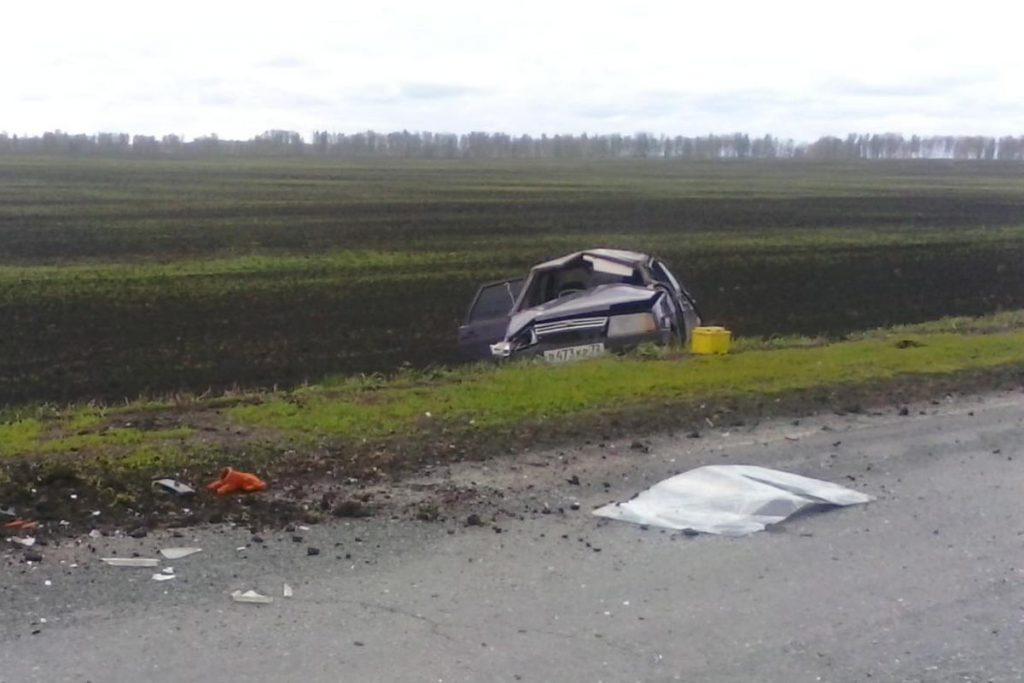 На 27-м километре автодороги Голышманово-Бердюжье съехал в кювет и опрокинулся автомобиль ВАЗ21099
