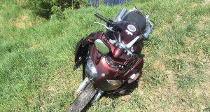 Очевидцы сегодня  спасли мотоциклиста, упавшего в лог в районе села Каскара