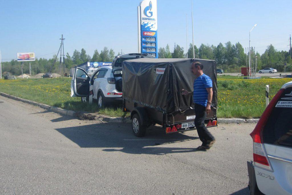 «Киа» и «Вольво» столкнулись на 244-м километре автодороги Тюмень-Ханты-Мансийск