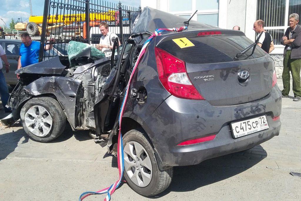 В Тюмени вчера днем аварию спровоцировала 20-летняя начинающая водитель со стажем за рулем 4 месяца