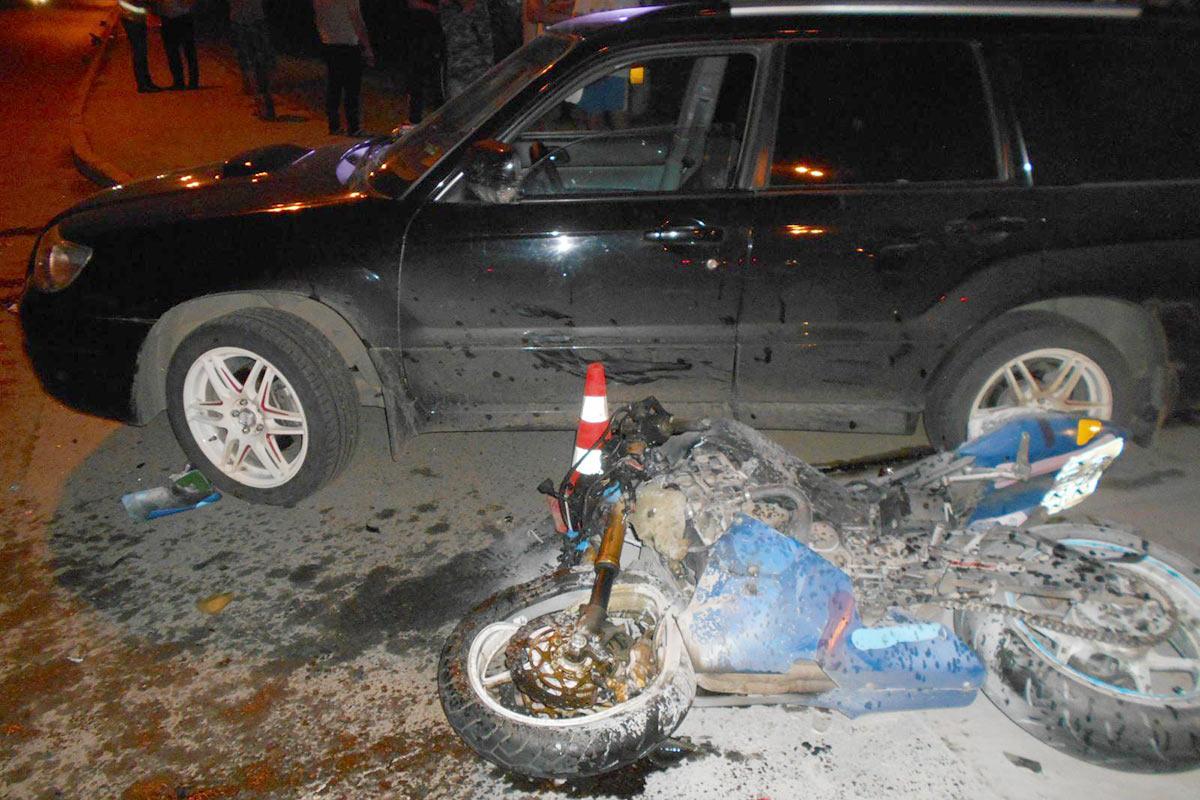 ВТюмени из-за неопытного водителя умер мотоциклист