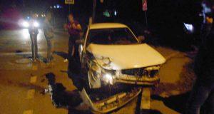 В половине двенадцатого часа ночи на перекрестке улиц Ленина и Декабристов города Тобольска столкнулись две «Лады» 10-й модели