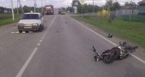В Вагайском районе в 17 часов 35 минут на улице Речной села Вагай столкнулись автомобиль ВАЗ-21099 и скутер «Foal».