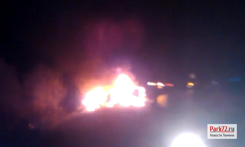 Под Тюменью после ДТП зажегся Дэу, пострадали 8 человек