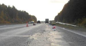 В 6 часов утра на трассе  грузовым автомобилем «МАЗ» с полуприцепом совершен наезд на трех пешеходов.