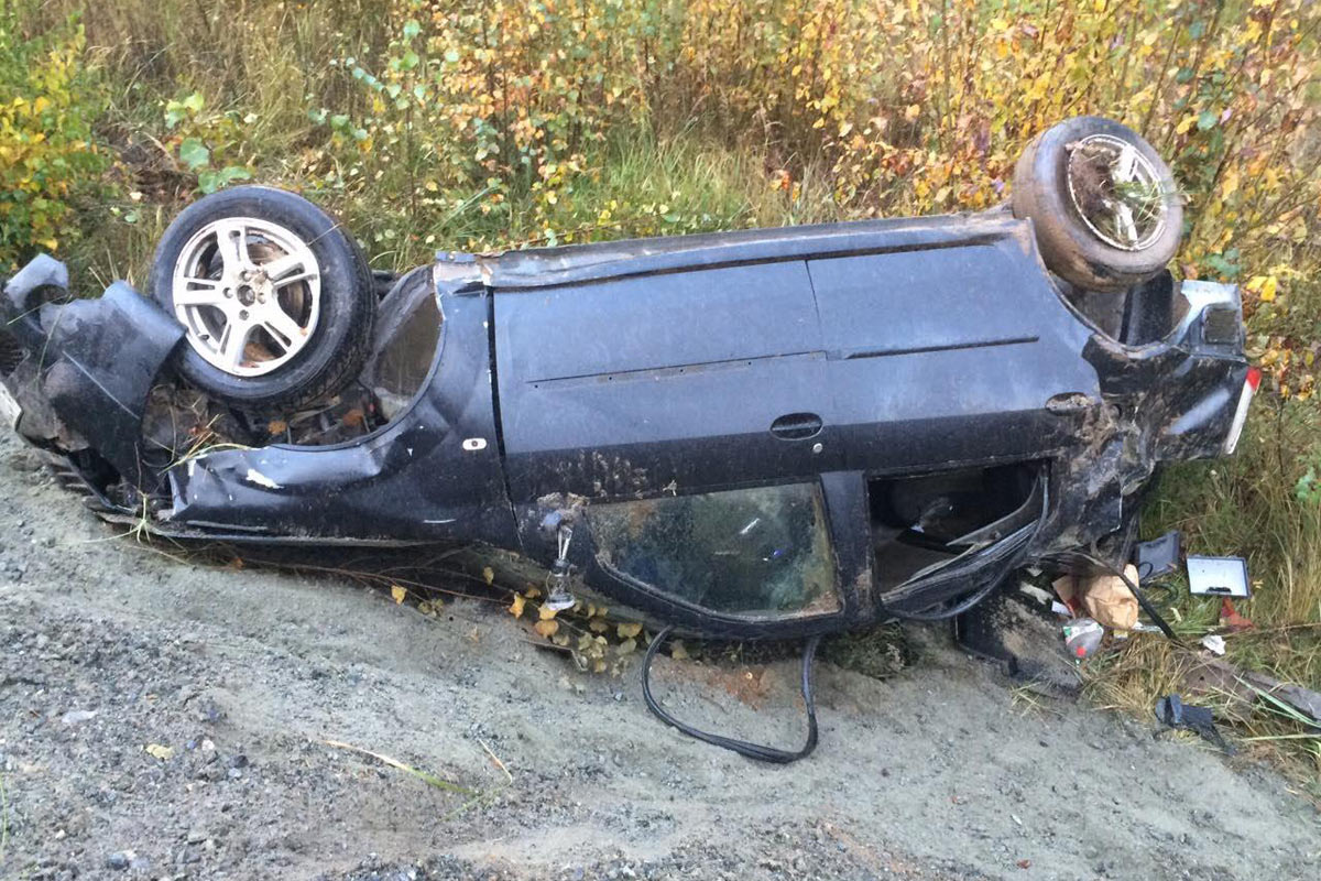Парень разбил прокатное авто натрассе Тюмень— Ханты-Мансийск ипотерял память