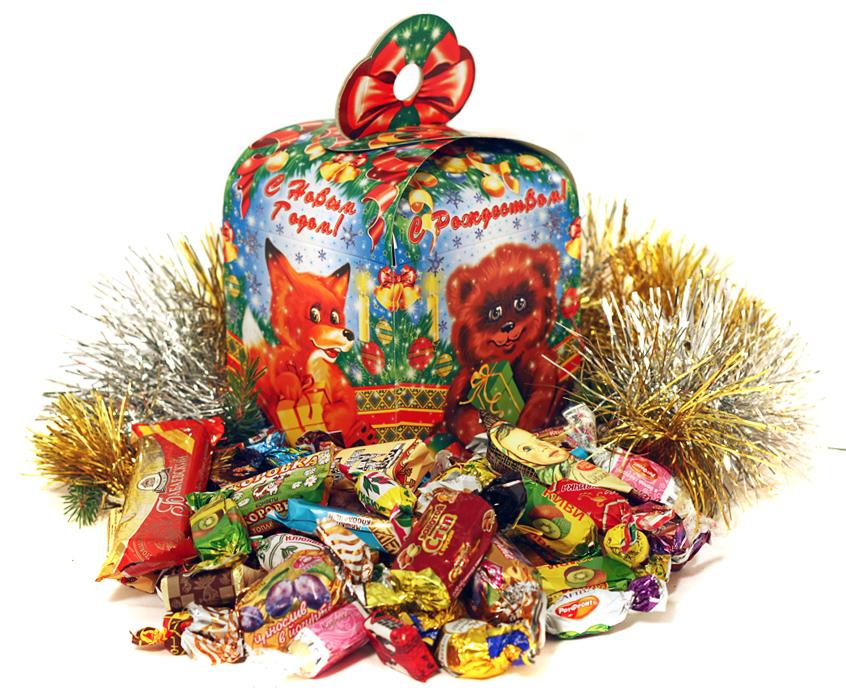 Подарки новый год сладкие