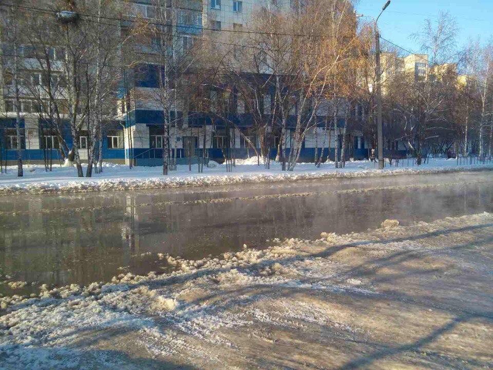 Наулице Газовиков вТюмени временно нет воды