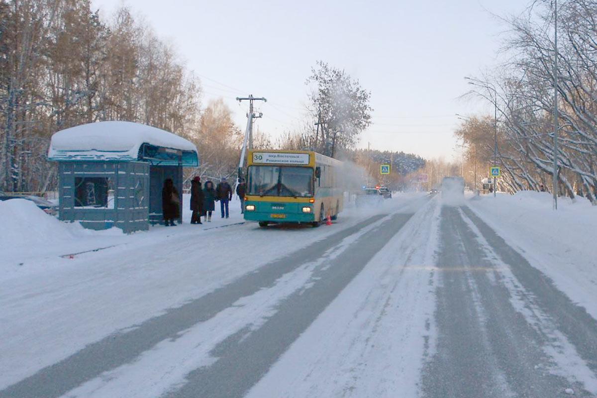 ВТюмени автобус сбил 77-летнюю пенсионерку