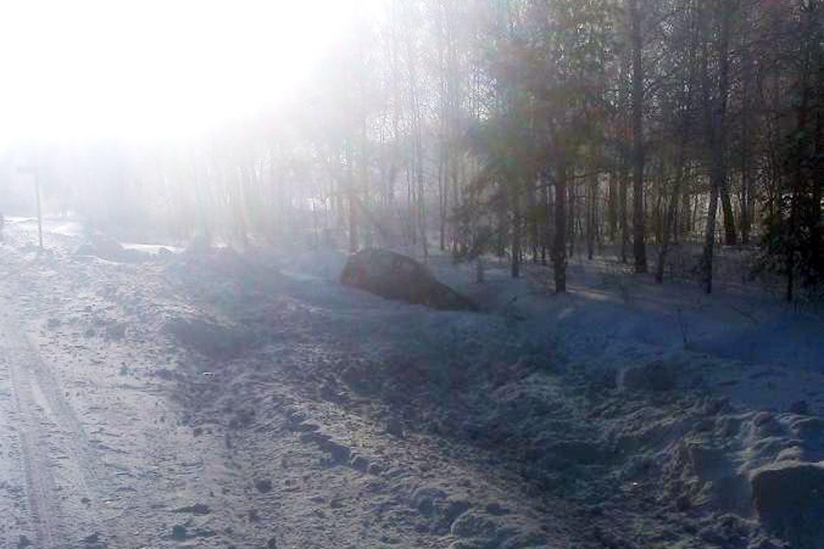 Натрассе Тюмень-Омск автомобиль улетел вкювет иперевернулся