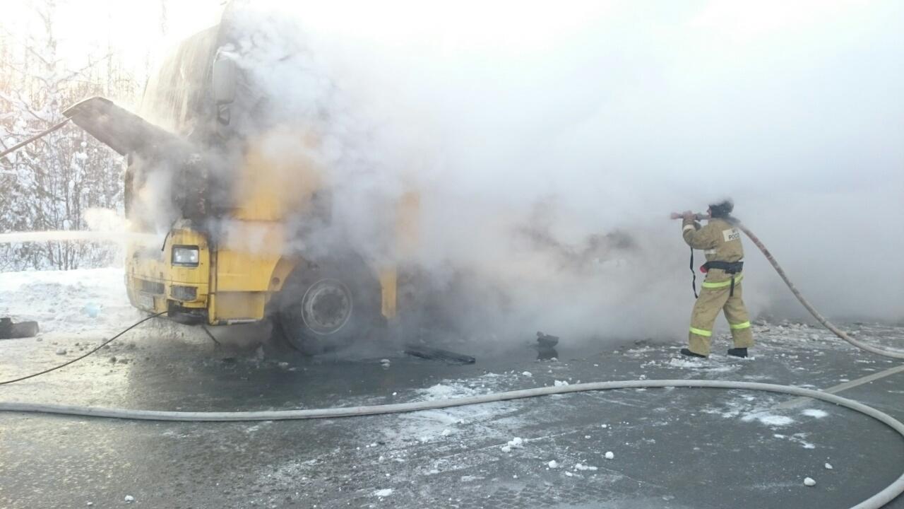 Пожар натрассе Тюмень— Ханты-Мансийск