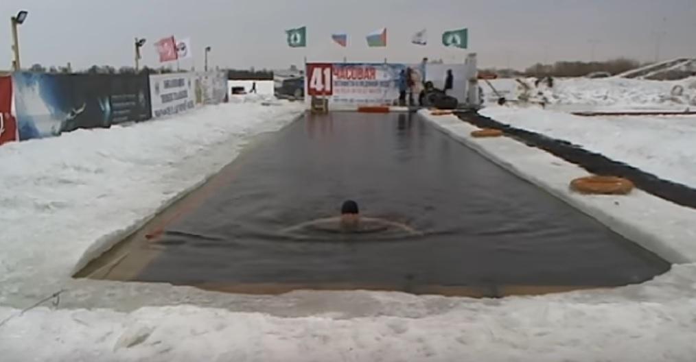 Тюменские «моржи» установили рекорд Российской Федерации , проведя 41-часовой заплыв вледяной воде