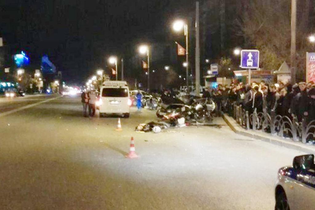 Трагедия произошла вечера в 23.55 час. на ул.Республики, 90, в центре Тюмени. Здесь столкнулись «Лада» 10-й модели и мотоцикл «Ямаха»