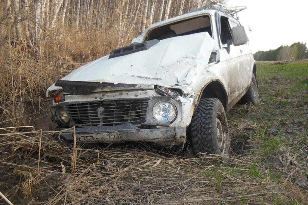 Около шести часов вечера на 152-м километре трассы Курган – Тюмень съехал в кювет и перевернулся автомобиль «Нива»