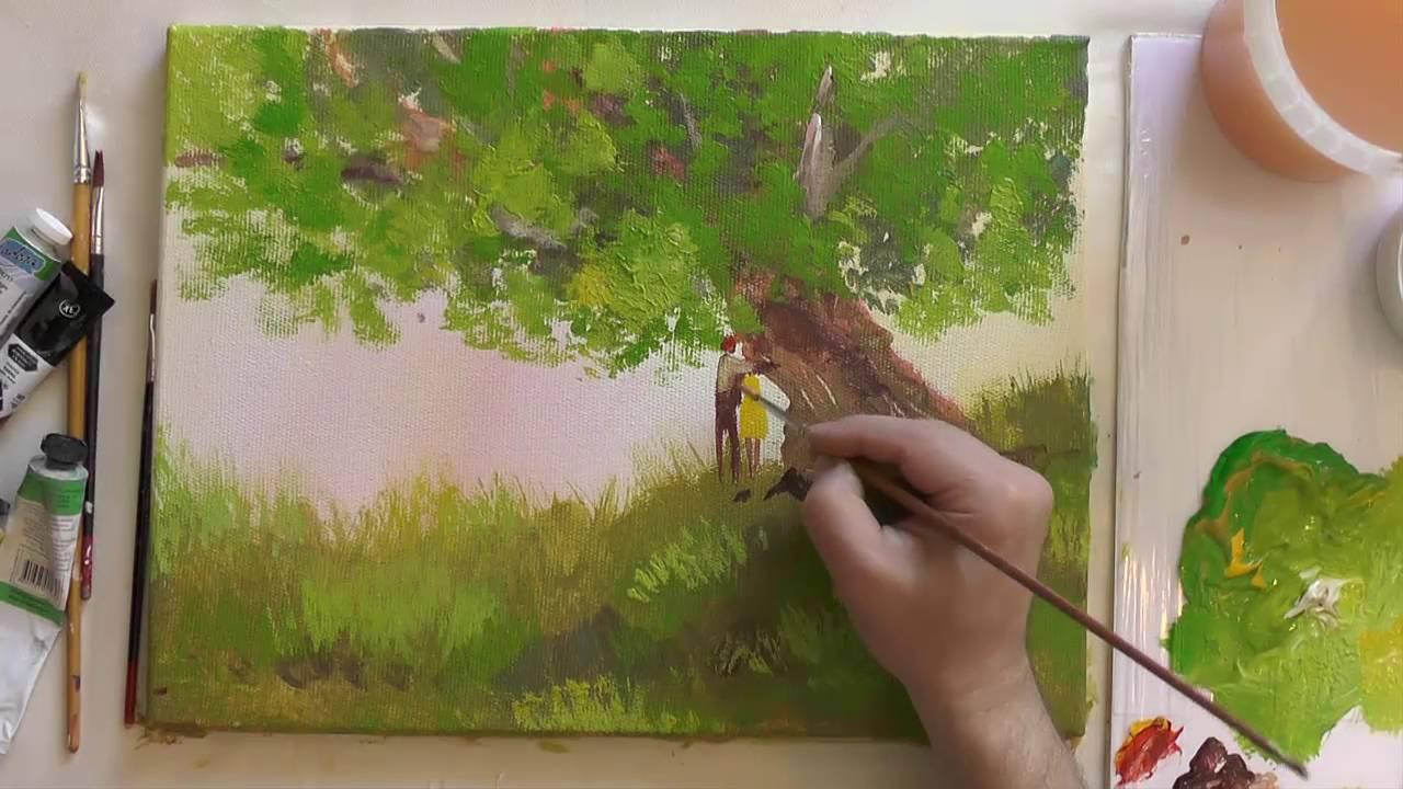 Как красками рисовать видео уроки для