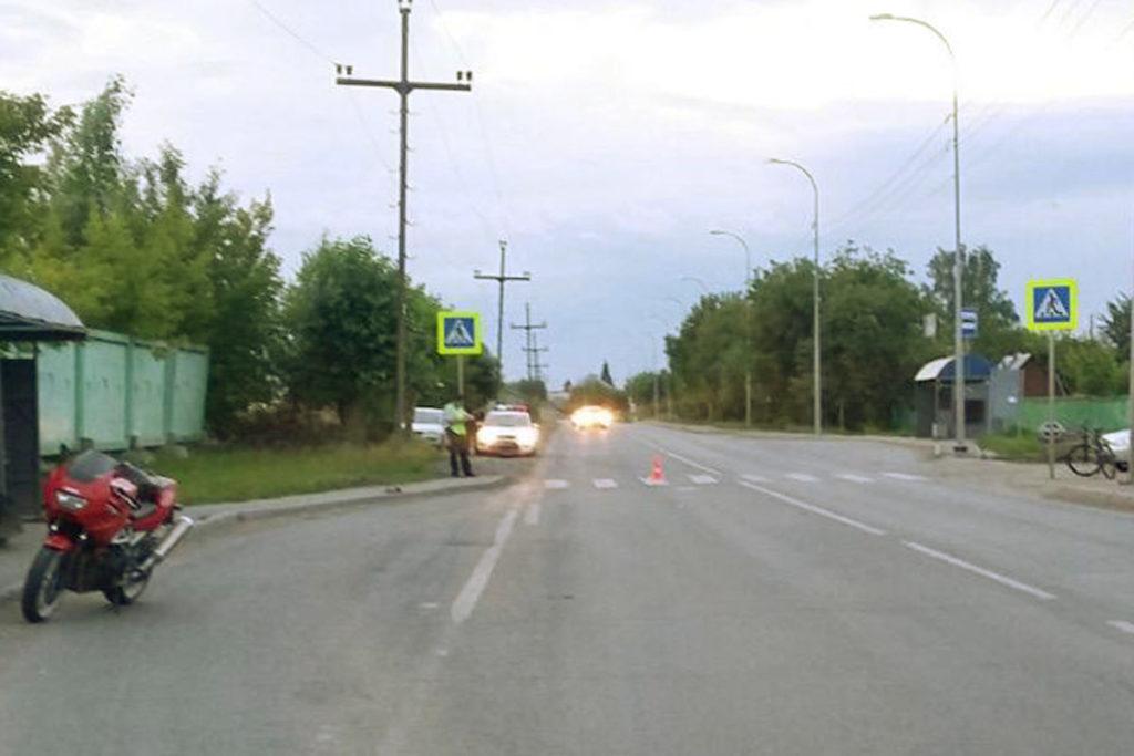 на улице Воронинские горки, 158 мотоцикл «Ямаха» на нерегулируемом пешеходном переходе сбил 84-летнюю женщину