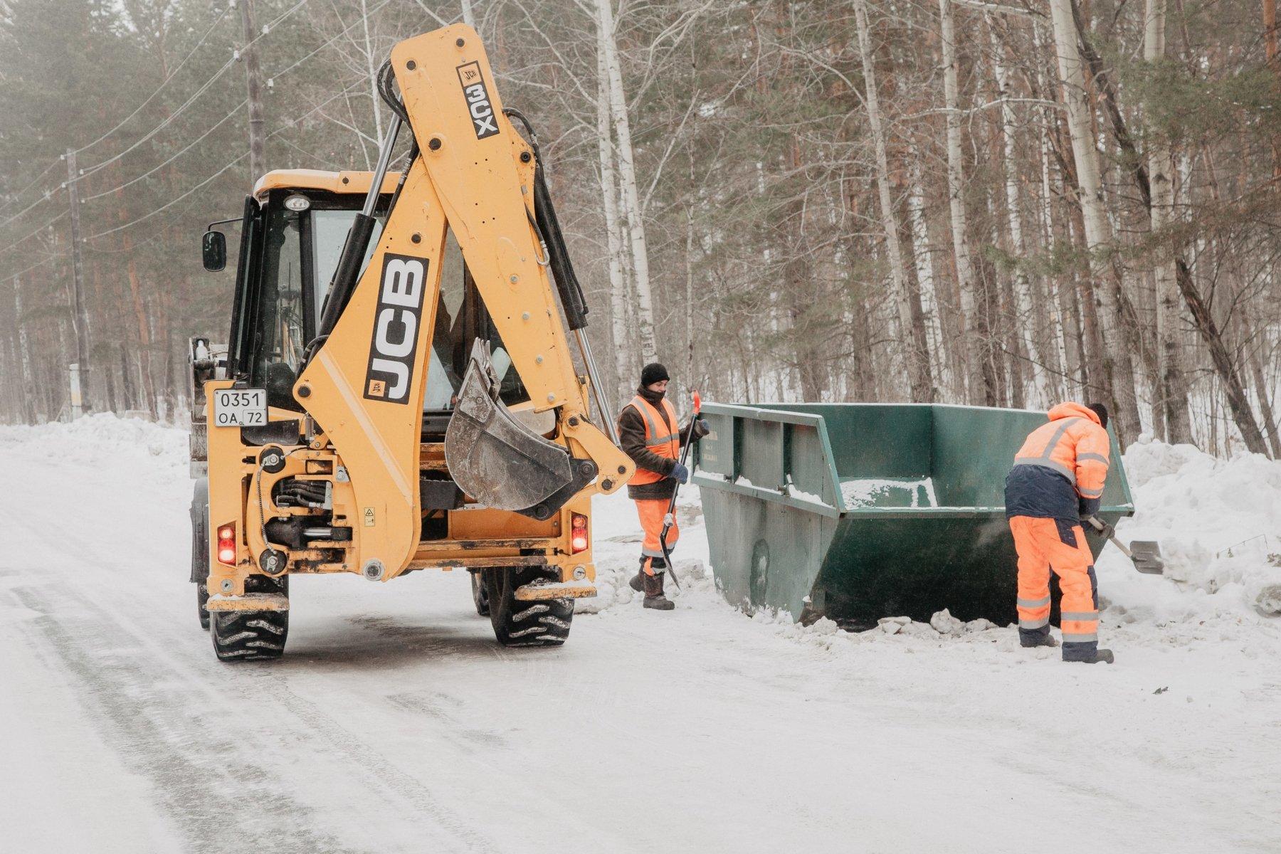 Заночь снегопада вТюмени убрали неменее 7,5 тыс. кубометров снега